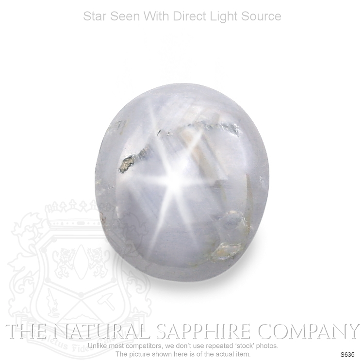Natural Untreated Metallic White Star Sapphire S635 Image