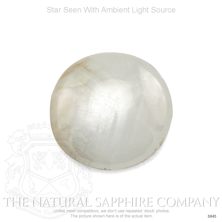Natural Untreated Gray Tan Star Sapphire S645 Image 2