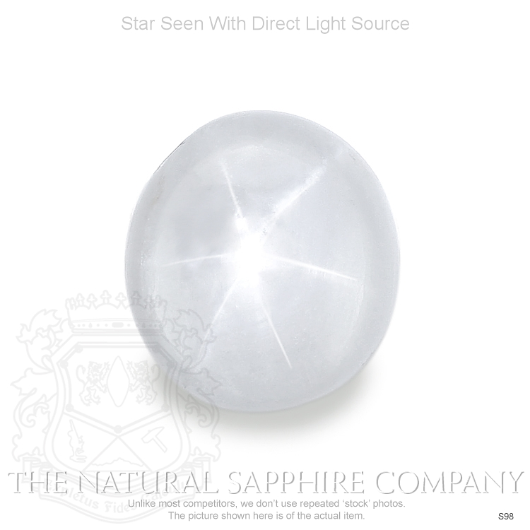 Natural Untreated White Star Sapphire S98 Image