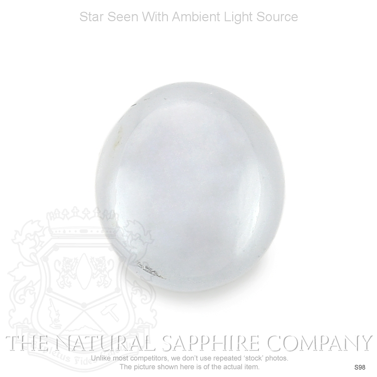 Natural Untreated White Star Sapphire S98 Image 2