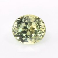 0.76ct Montana Oval Greenish Yellow Sapphire - U10278