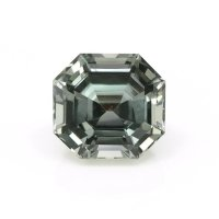 1.18ct Montana Asscher Greenish Brown Sapphire - U10465