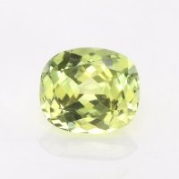 0.75ct Montana Cushion Greenish Yellow Sapphire - U10574