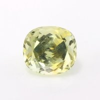 1.01ct Montana Cushion Greenish Yellow Sapphire - U10575