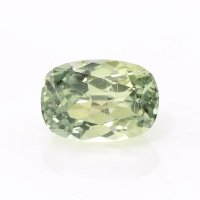 0.90ct Montana Cushion Yellowish Green Sapphire - U10610