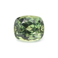 1.21ct Montana Cushion Yellowish Green Sapphire - U10638