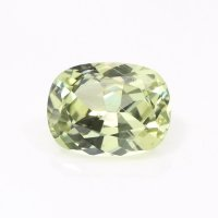 0.77ct Montana Cushion Yellowish Green Sapphire - U10652