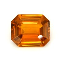 12.00ct Ceylon Emerald Cut Orange Sapphire - U11438