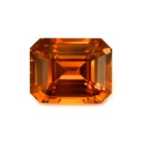 6.05ct Ceylon Emerald Cut Orange Sapphire - U11557
