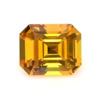 1.33ct Ceylon Emerald Cut Orangish Yellow Sapphire - U11575