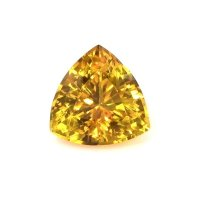 1.47ct Ceylon Trillion Orangish Yellow Sapphire - U11576