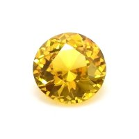 1.27ct Ceylon Round Yellowish Orange Sapphire - U11622