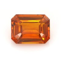 7.08ct Ceylon Emerald Cut Orange Sapphire - U12232
