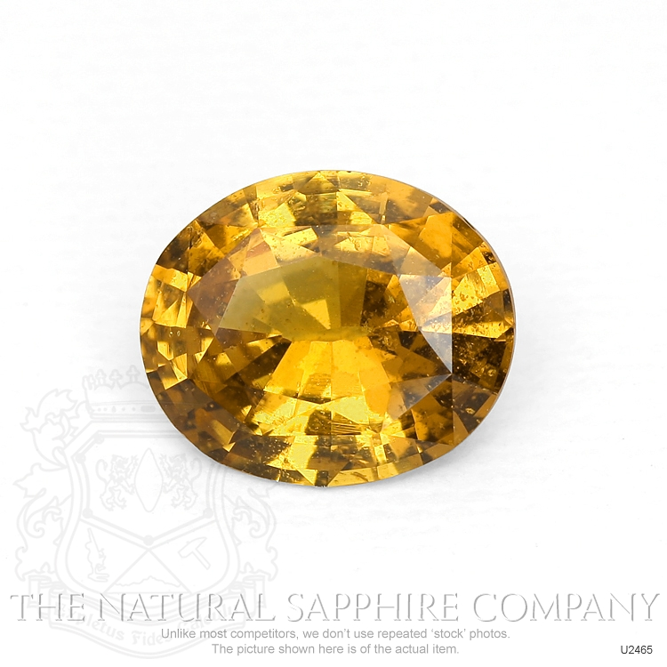 Natural Untreated Orangish Brown Sapphire U2465 Image
