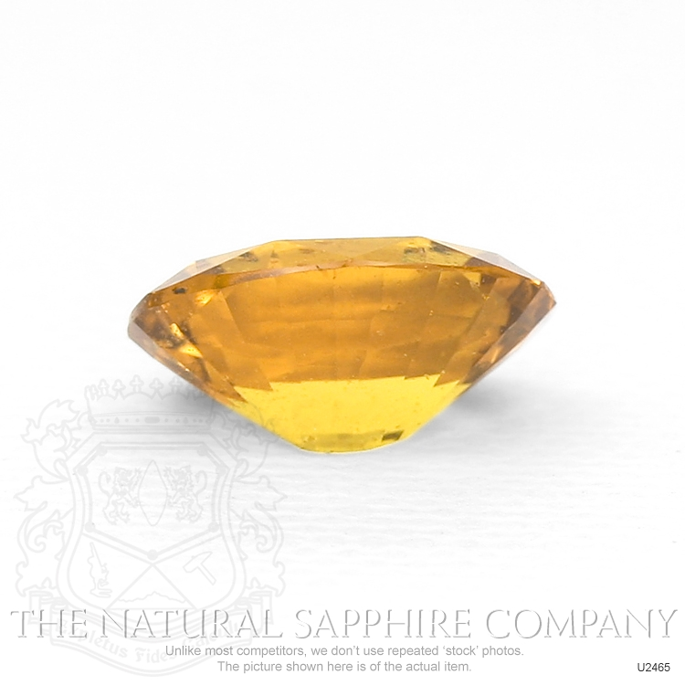 Natural Untreated Orangish Brown Sapphire U2465 Image 2