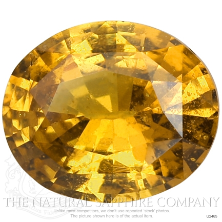 Natural Untreated Orangish Brown Sapphire U2465 Image 4