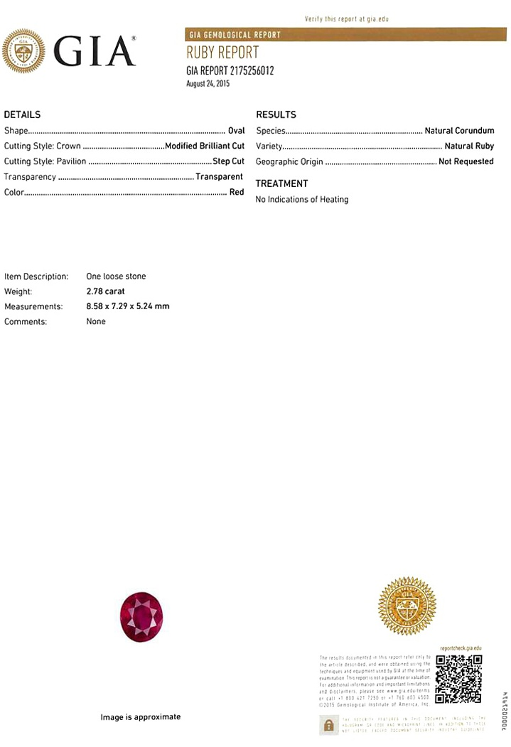 Natural Untreated Ruby U3232 Certification 3