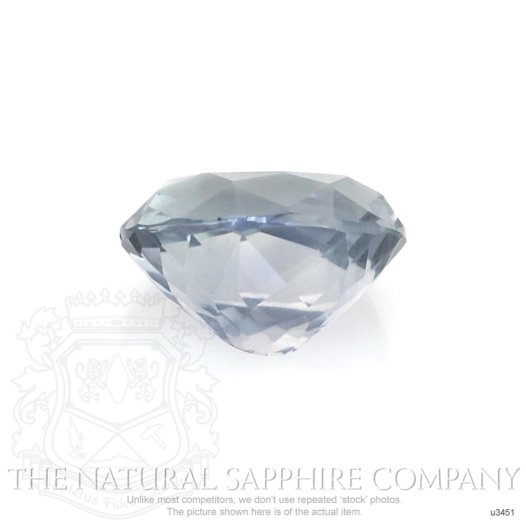 Natural Untreated Greyish Blue Sapphire U3451 Image 2