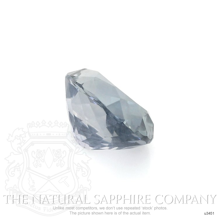 Natural Untreated Greyish Blue Sapphire U3451 Image 3