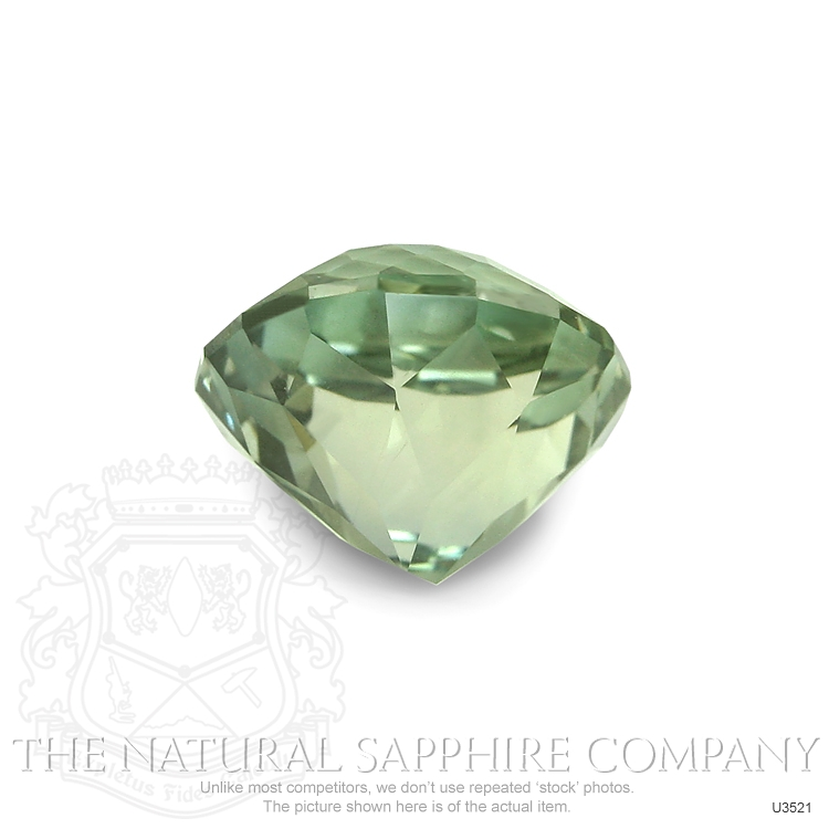 Natural Untreated Green Sapphire U3521 Image 2