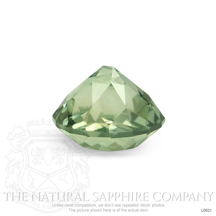 Natural Untreated Green Sapphire U3521 Image 3
