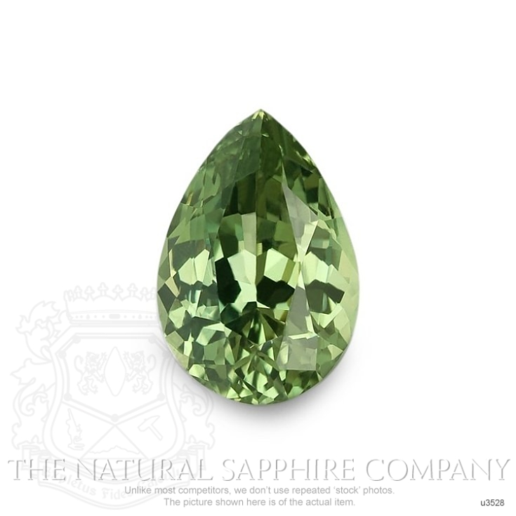 Natural Untreated Green Sapphire U3528 Image