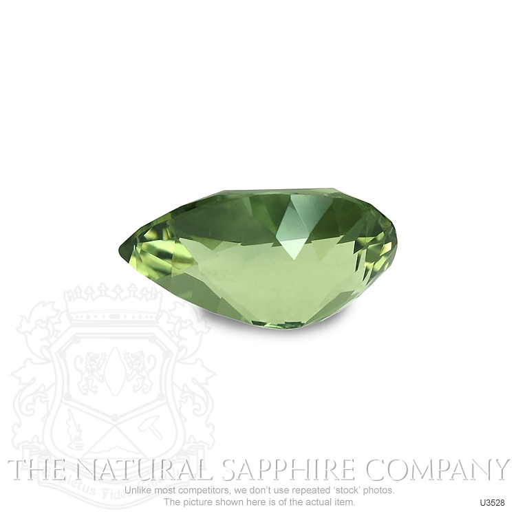 Natural Untreated Green Sapphire U3528 Image 2