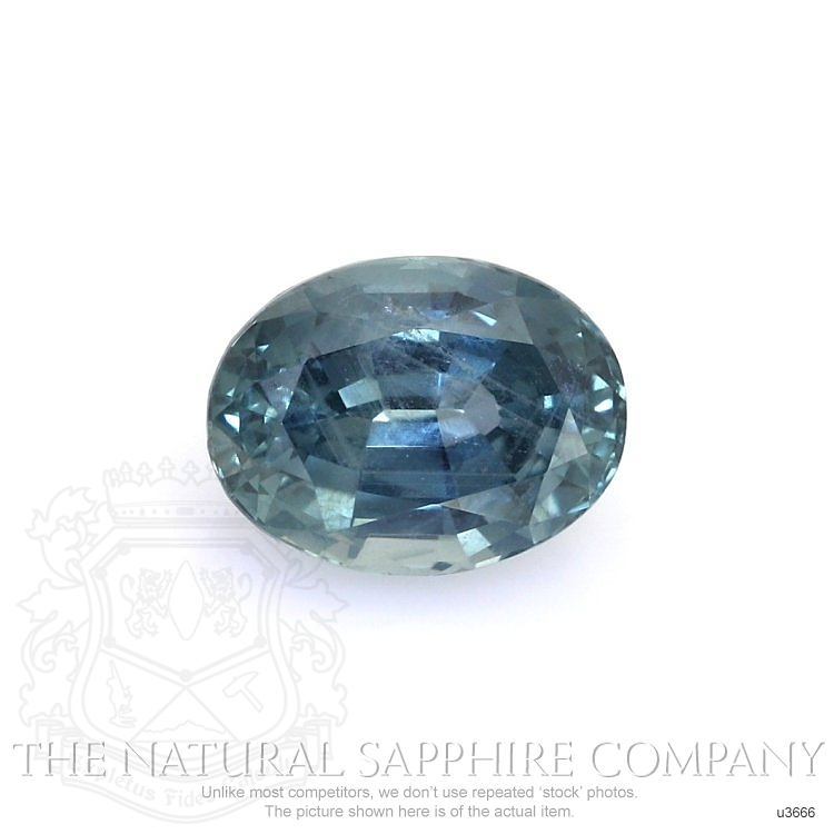 Natural Untreated Greenish Blue Sapphire U3666 Image