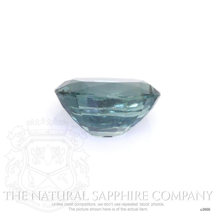 Natural Untreated Greenish Blue Sapphire U3666 Image 2