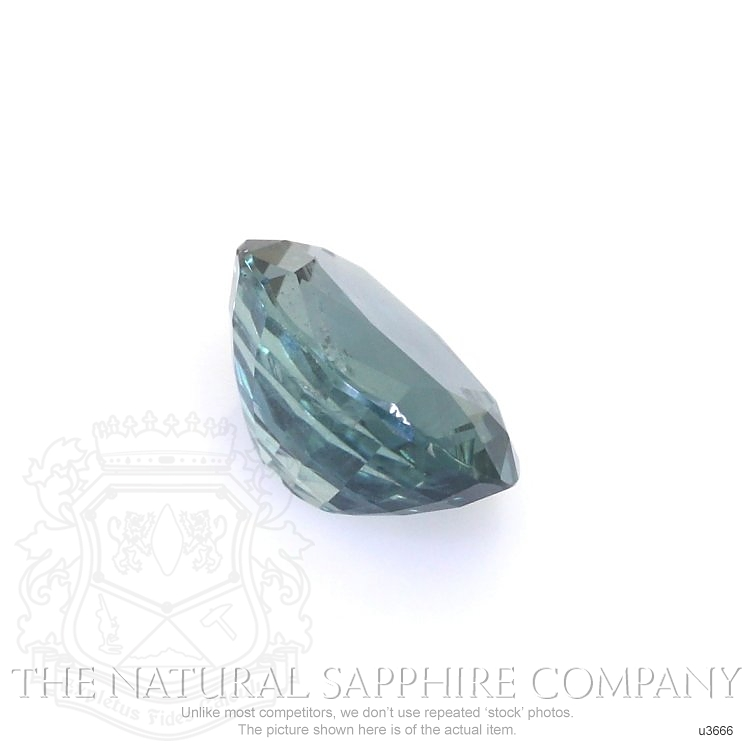 Natural Untreated Greenish Blue Sapphire U3666 Image 3