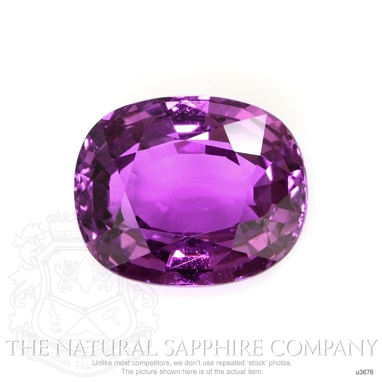 Natural Untreated Pinkish Purple Sapphire U3676 Image