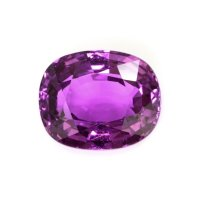 5.03ct Madagascar Cushion Purplish Pink Sapphire - U3676