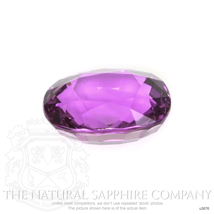 Natural Untreated Pinkish Purple Sapphire U3676 Image 2