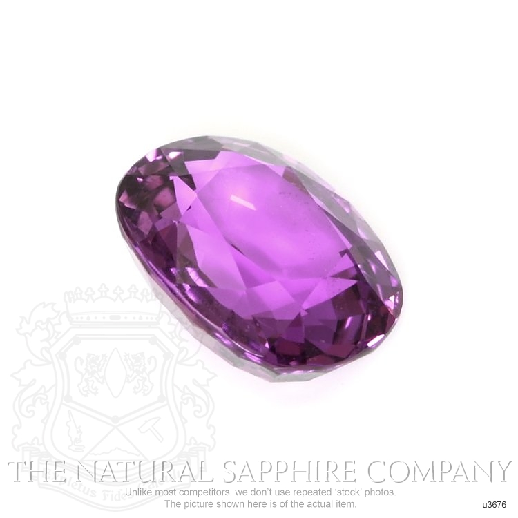 Natural Untreated Pinkish Purple Sapphire U3676 Image 3