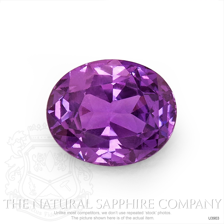 Natural Untreated Purple Sapphire U3903 Image