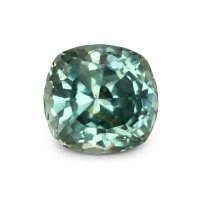 3.52ct Montana Cushion Greenish Blue Sapphire - U4000