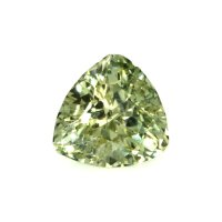 3.94ct Montana Trillion Yellowish Green Sapphire - U4137
