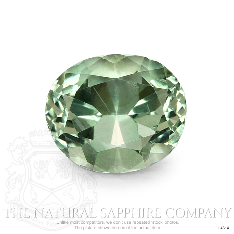 Natural Untreated Yellowish Green Sapphire U4314 Image