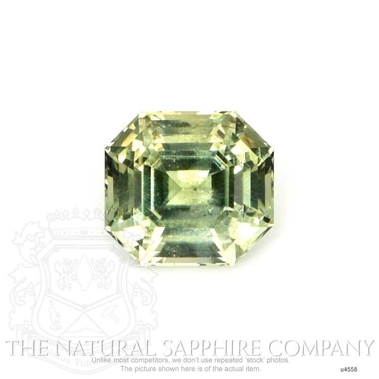 Natural Untreated Yellowish Green Sapphire U4558 Image