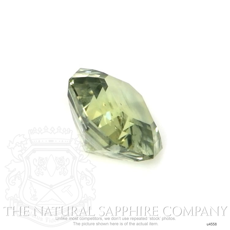 Natural Untreated Yellowish Green Sapphire U4558 Image 3