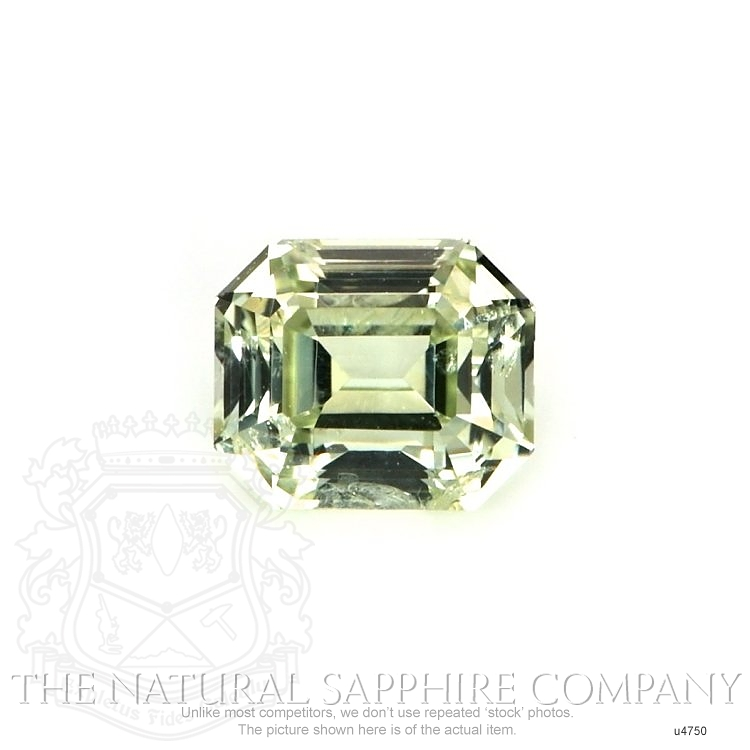 Natural Untreated Yellowish Green Sapphire U4750 Image
