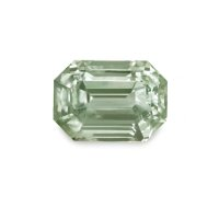 2.11ct Montana Emerald Cut Yellowish Green Sapphire - U4777