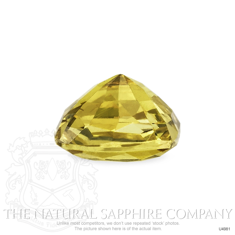 Natural Untreated Yellowish Brown Sapphire U4981 Image 3