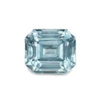 2.06ct Montana Emerald Cut Greenish Blue Sapphire - U5081