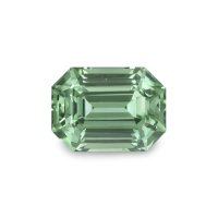 1.13ct Montana Emerald Cut Yellowish Green Sapphire - U5095