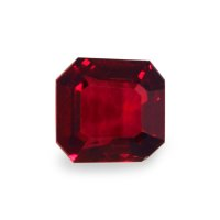 1.00ct Mozambique Asscher Ruby - U5273