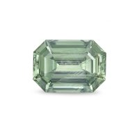 2.18ct Montana Emerald Cut Yellowish Green Sapphire - U5318
