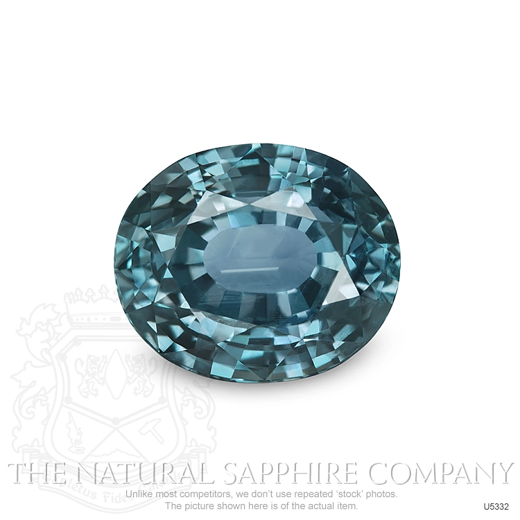 Natural Untreated Greenish Blue Sapphire U5332 Image