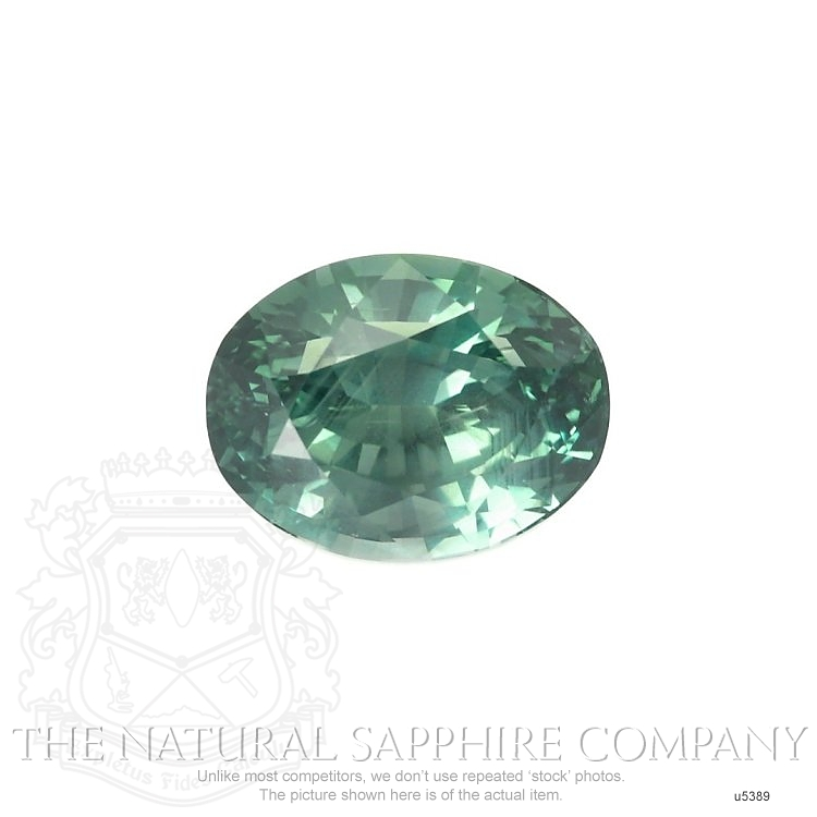 Natural Untreated Green Sapphire U5389 Image