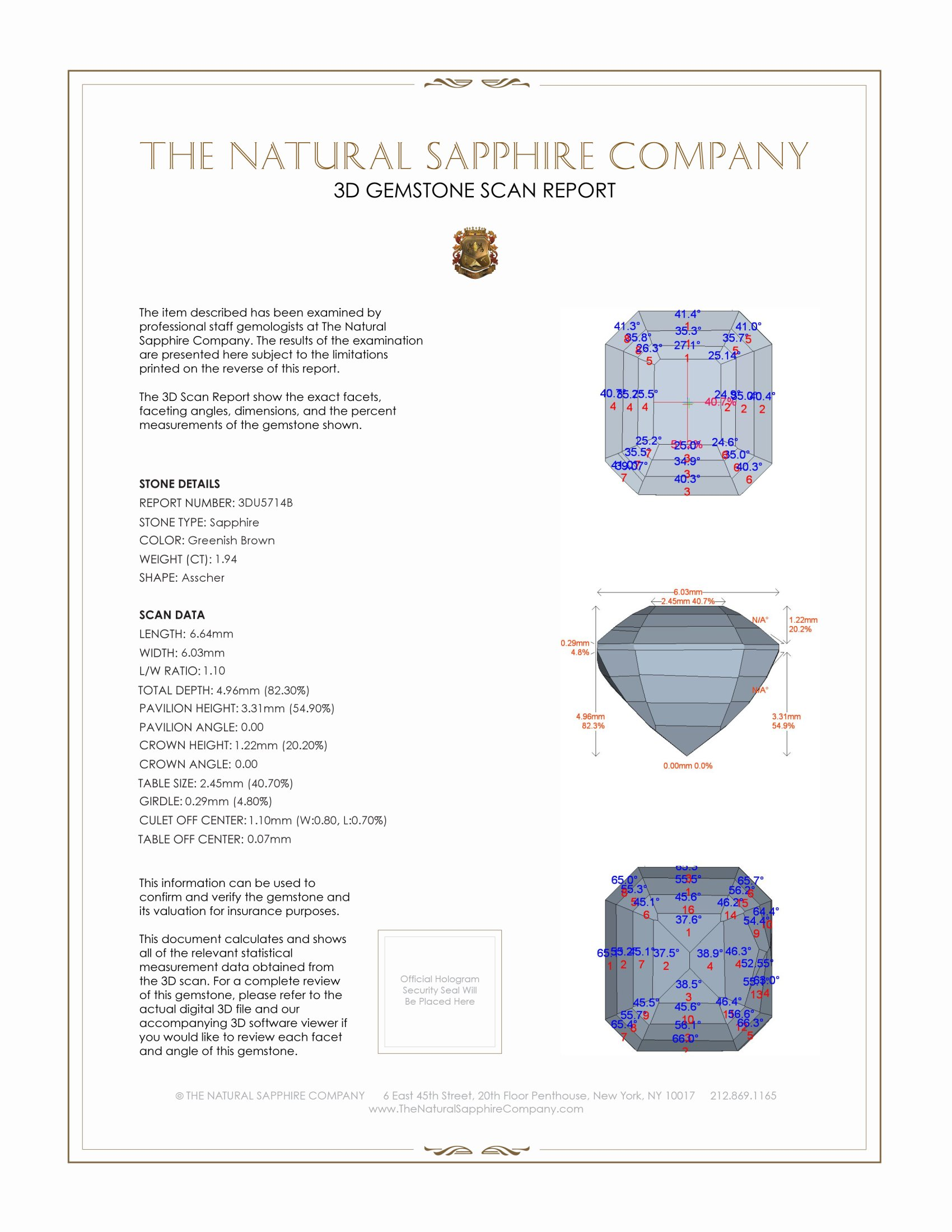 Natural Untreated Color-Change Sapphire U5714 Certification 2